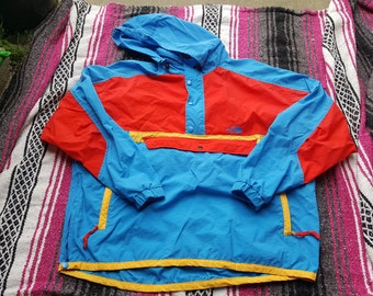 Vintage The North Face Jacket Color Block Size Large Wind Breaker Patagonia