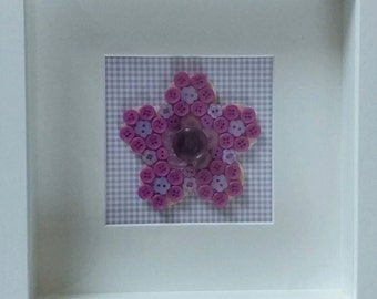 Purple Flower Button picture 9' x 9' (can be personalised)