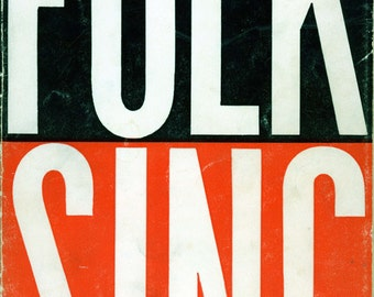 "1959 First Edition Songbook, ""Folk Sing"""