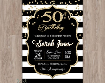 50th Birthday Invitation 50th Birthday Invitation for Women
