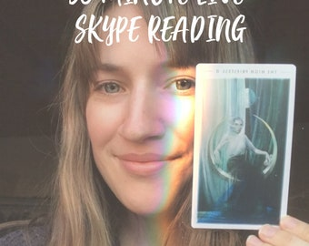 30 Minute Live TAROT SKYPE READING - Intuitive Reader - Oracle Psychic Celtic Cross Cards Spiritual Guidance