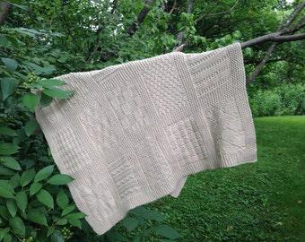 PDF Knitting Pattern: Knit Sampler Baby Blanket