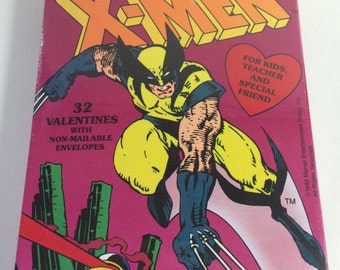 Vintage The Uncanny X-MEN Valentines day cards With Wolverine  sealed/shrink wrapped 1990's
