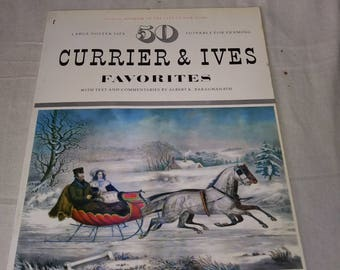 50 currier & Ives poster prints for framing
