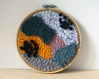Punch needle art /embroidery hoop art / wall hanging
