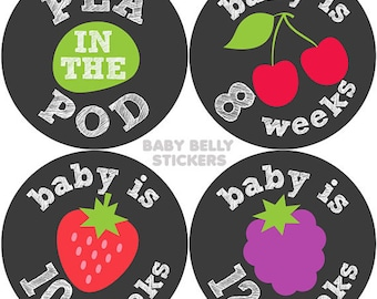Pregnancy Stickers, Maternity Stickers, Bi-Weekly Pregnancy Stickers, Belly Stickers, Baby Bump Sticker, Gender Reveal
