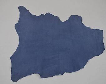 Blue velvet lamb leather skin