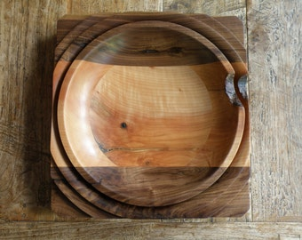 Cherry/ Walnut Mixed bowl
