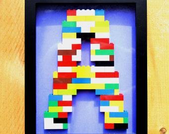 Monogram Lego Wall Art