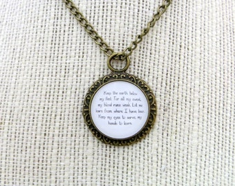 Keep The Earth Below My Feet Handcrafted Pendant Necklace