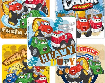 Tonka  Chuck & Friends Party - 15 Stickers - Construction Party Transportation Vehicles Stickers  Party Favors Supplies - Licensed Stickers