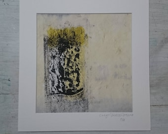 Unfurling 3 - mounted giclee print, unique, limited edition, signed artwork