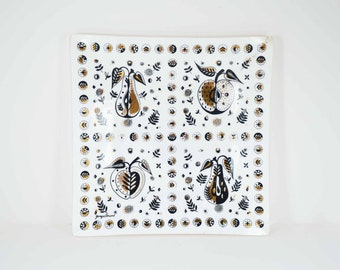 Georges Briard Forbidden Fruit Glass platter mid century modern