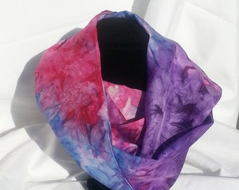 Playful Violet, periwinkle, Cranberry, and Fushia Silk Scarf