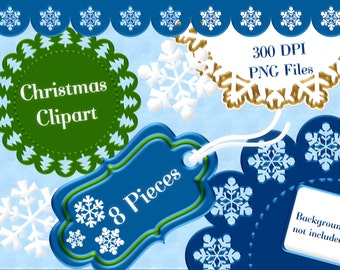 Christmas Clipart, Holiday Clipart, Festive Clipart, Clipart