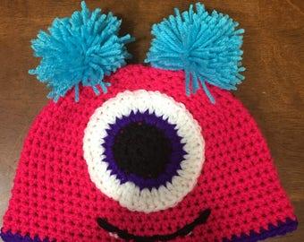 Crochet Monster Beanie Hat