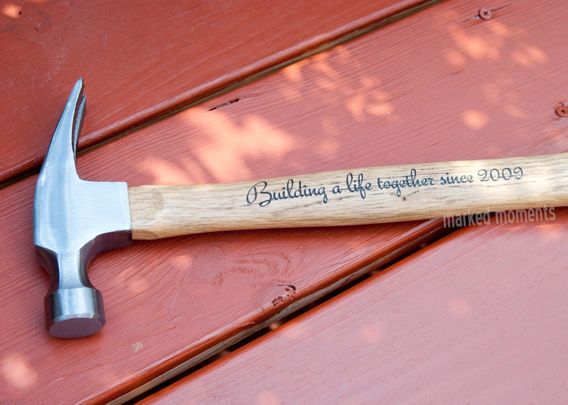 Engraved Hammer Personalized with Name Monogram or personal