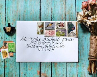 Custom Calligraphy Wedding Envelopes - Fancy Free