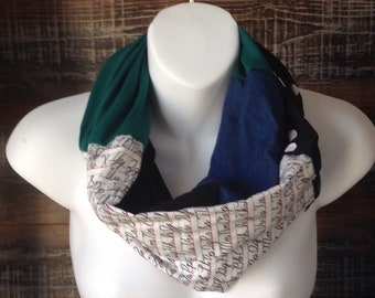 Infinity scarf - charts for observation