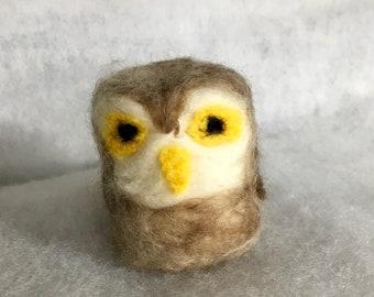 Owl needle felted