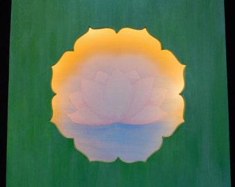 Lotus meditation image with light, lighting, mood,