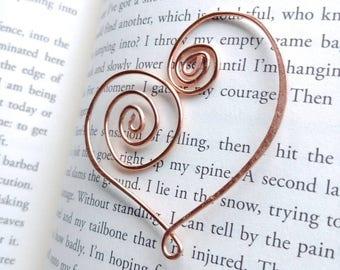 Heart Gift, Heart Bookmark, Heart Gift for Her, Heart Gift Idea, Heart Gifts, Heart Shaped Gift, Gift for Book Lover, Gift for Reader
