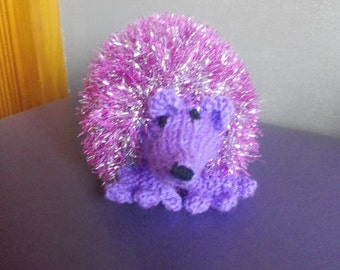Hand knitted Hedgehog, stuffed toy, knitted toy, knitted animals, woodland animals, children, all ages, gift, birthday gift, new baby gift