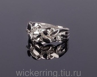 925k silver handmade 4 band NUGGET puzzle ring