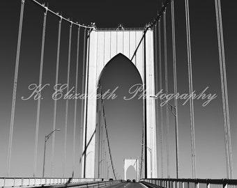Newport Bridge (Black/White) -- Newport Rhode Island