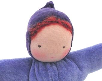 Waldorf doll // ecofriendly toy // cloth doll // natural fiber baby //  bunting baby // waldorf toy // cuddle doll // soft doll BPW1
