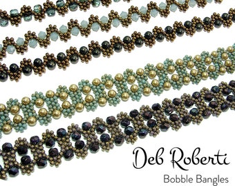Bobble Bangles beaded pattern tutorial by Deb Roberti