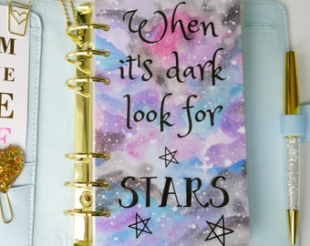 When It's Dark Look For Stars Personal, A5, A6, B6 and Pocket Size Planner Dashboards