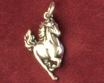 Horse Pendant, Sterling Silver, Vintage Charm