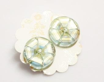 Czech Glass Stud Earrings, Flower Earrings, Unique Earrings