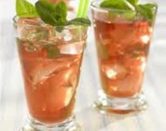 Ambrosia glacé thé, des mélanges de thé glacé, des mélanges de thé, thé vert, thé pêche, thé d'Hibiscus, thé abricot, cassis thé, thé de menthe réglisse