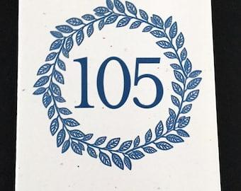 Masculine 105th Birthday Card, Laurel Wreath Birthday Card, Blue, Birthday Card for Dad, Card for Uncle, Card for Grandfather