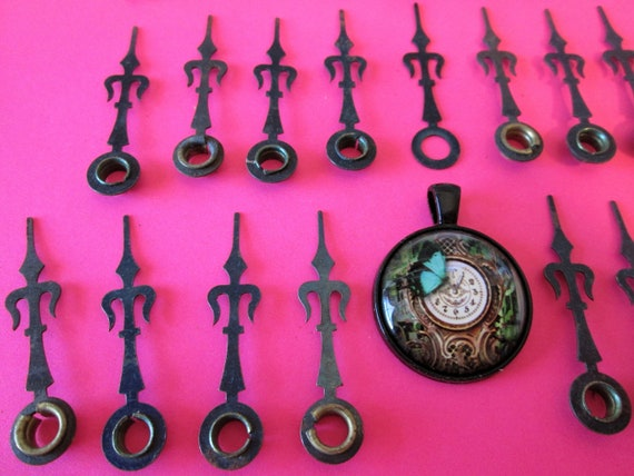 25 Assorted Antique Ansonia/Gothic Style Steel Clock Hands for your Clock Projects, Jewelry Making, Steampunk Art