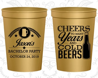 Bachelor Party Cups, Bachelor Cups, Bachelor Party Favors, Bachelor Favors, Bachelor Favor Cups, Party Favor Cups, Cheers and Beers (C40097)