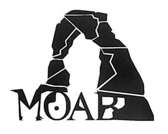 Moab Utah Vinyl Decal