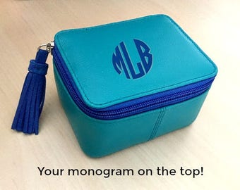 Monogram jewelry box Etsy