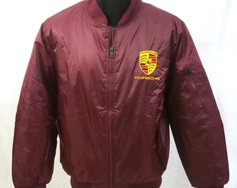 Porsche Red Poly Filled Jacket New W/Tags Size S-L & XL