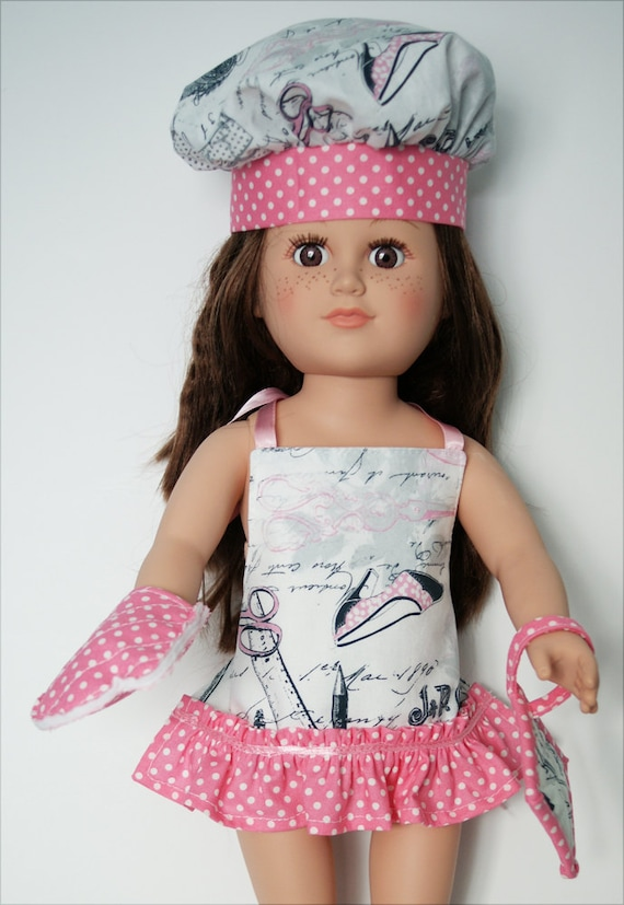 American Girl Chef Set - Pink and White