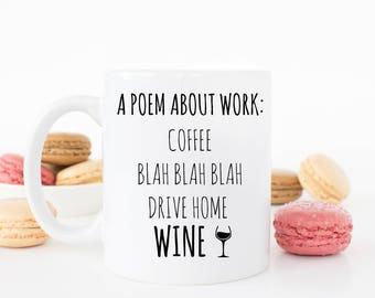 Poem about work mug