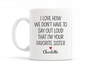 Personalized Sister Gift For Sister Brother Funny Sister Gift from Sister Christmas Gift Sister Mug Sister Wedding Gift Sister Coffee Mug