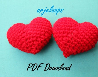 arjeloops - Heart Plush - Crochet Pattern