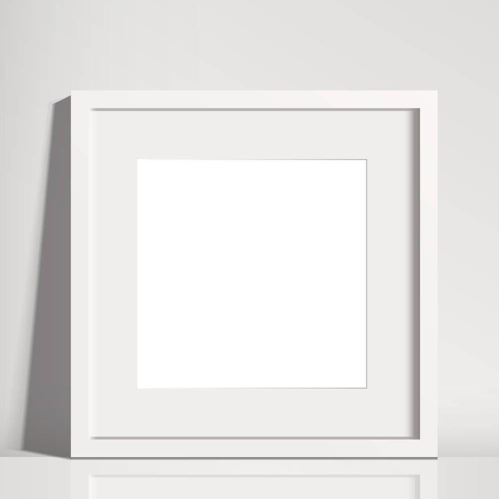 Quadratische Rahmen Mockup weiß-Bilderrahmen mit