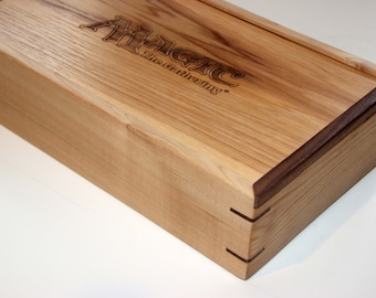 Wooden Magic Cards box holds up to 2400 cards