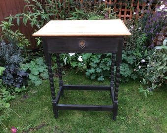 NOW ** SOLD ** Vintage Oak Hall/Console Table
