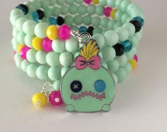 Scrump Bracelet, Scrump Doll Bracelet, Disney Bracelet, Lilo and Stitch Bracelet, Adult Scrump Bracelet, Disney Inspired Jewelry, Scrump