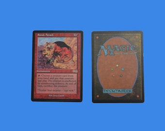 Sneak Attack from Urza's Saga  PROXY MTG Magic the Gathering excellent quality card. Amazing for casual play!